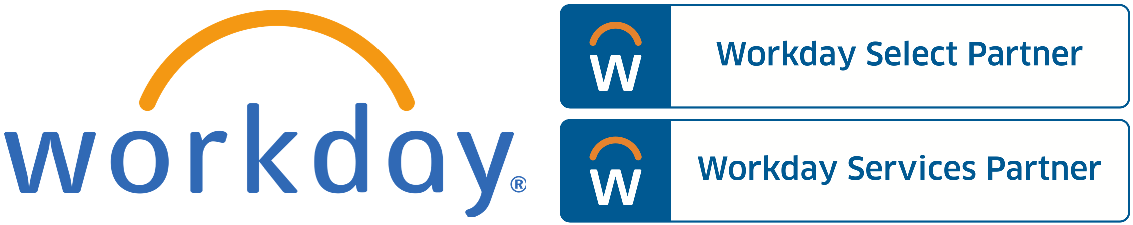 Workday logo and stacked parter logos Lg_2260x450 - Kainos