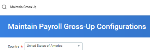 Workday 33 Payroll Gross Up